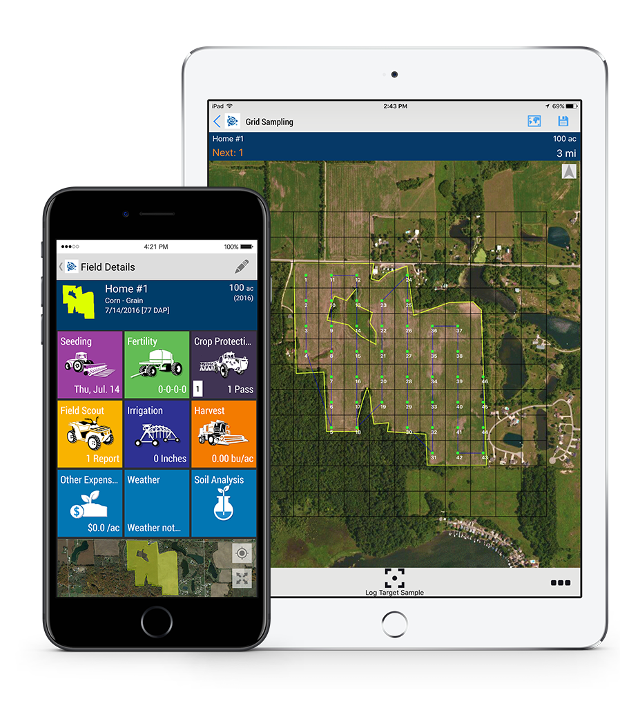 The Trimble Ag software
